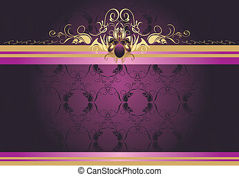 Decorative retro border for design