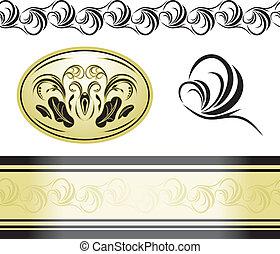 Decorative retro elements for decor