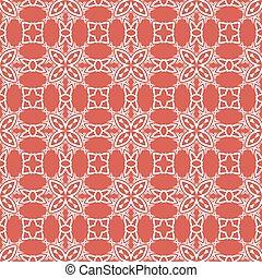Decorative Retro Seamless Red Pattern