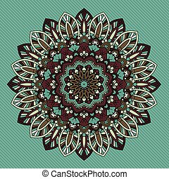 decorative retro styled mandala design 2811 - Decorative...