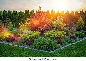 Decorative Rockery Garden