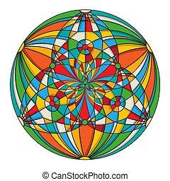 Decorative round design element