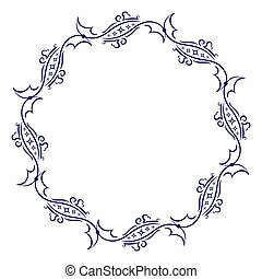 Decorative round frame for your design.