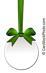 Decorative round with green bow