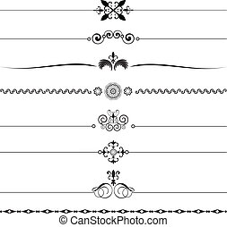 Decorative rules - Various different designs of decorative...
