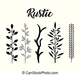 decorative rustic vintage icons set vector illustration design graphic