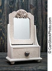 Decorative Rustic White Mirror White Mirror