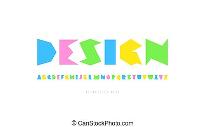 Decorative sans serif font. Letters for logo and emblem design. Isolated on white background