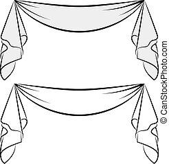 decorative sash  - isolated sash - design element