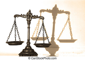 Decorative Scales of Justice - Symbol of law and justice...
