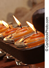Decorative Scented Candles - A wrought iron candle holder...