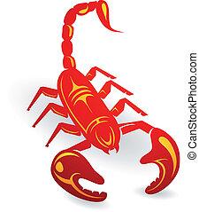 Decorative scorpion - Decorative wild life scorpion on white...