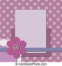 decorative scrapbook page with frame
