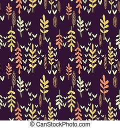 Decorative seamless autumn pattern.