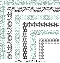 Decorative seamless border