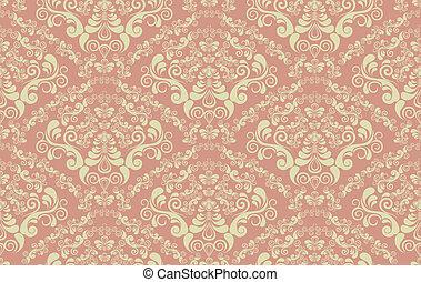 Decorative seamless floral ornament - Vector decorative...
