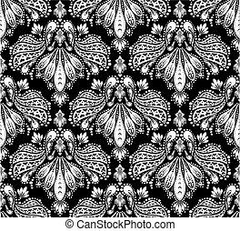Decorative seamless floral ornament - Vector decorative ...