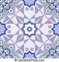 Decorative seamless pattern. Retro background. Vector illustration.