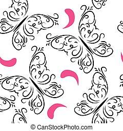 Decorative seamless pattern with bu