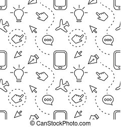pattern with icons