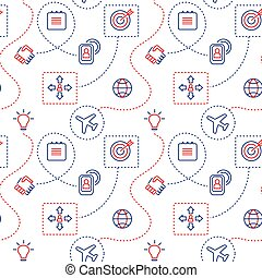 Decorative seamless pattern with icons