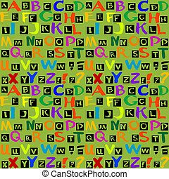 pattern with letters of the alphabet