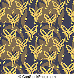 pattern with plants