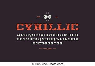 Decorative serif font in sport style
