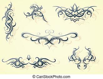 Decorative shapes - Set of decorative design elements
