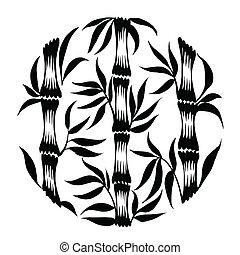 decorative silhouette bamboo