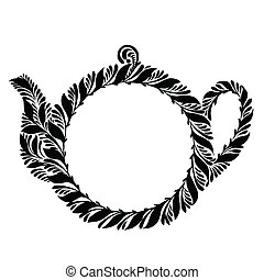 decorative silhouette teapot