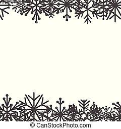 Decorative snowflake on white background