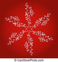 Decorative snowflake - Stylised snowflake