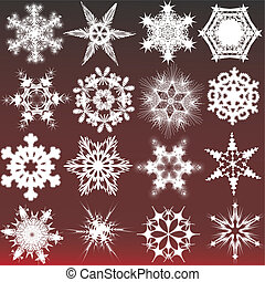Decorative snowflakes. Vector illustration