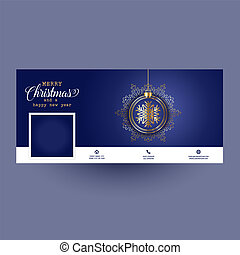 decorative social media cover with Christmas design