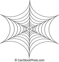 Decorative spider web - Abstract decorative spider web...