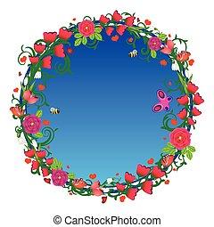 Decorative spring floral banner
