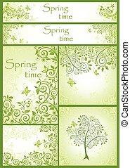 Decorative spring floral design