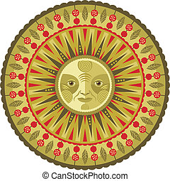 Decorative Spring Mandala - Concentric decorative spring...