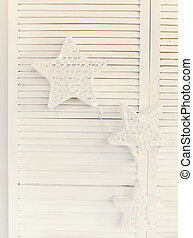 Decorative stars on white background