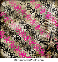 Decorative Stars Paper Background