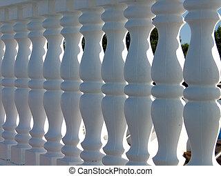 Decorative stone fence