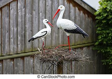 Decorative storks - garden decoration