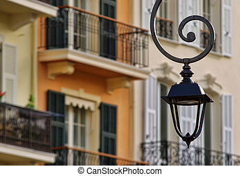 decorative street lamp in the city