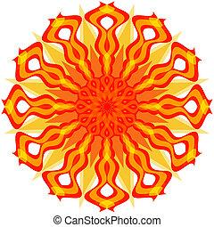 Decorative sun (vector)