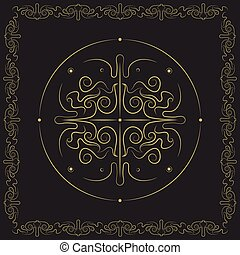 Decorative swirly symmetric design