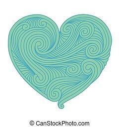 Decorative teal heart