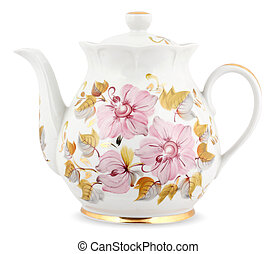 Decorative teapot isolated on white
