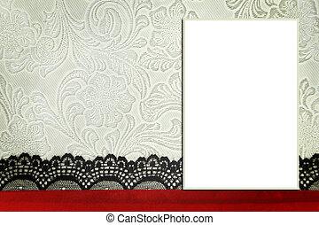 Decorative template with photo frame. Scrapbook, photobook concept