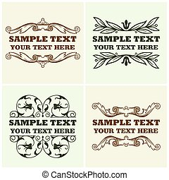 Decorative text frames